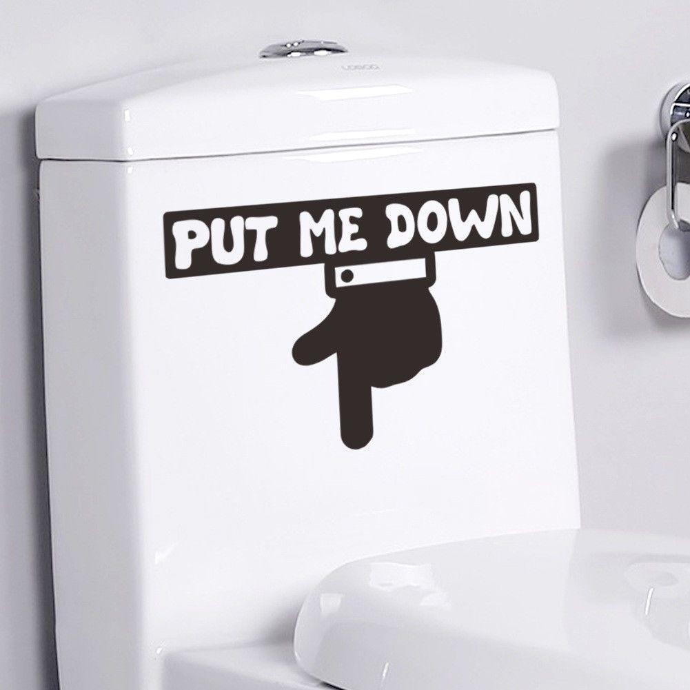 gbp put me down wall sticker toilet bathroom door sign home