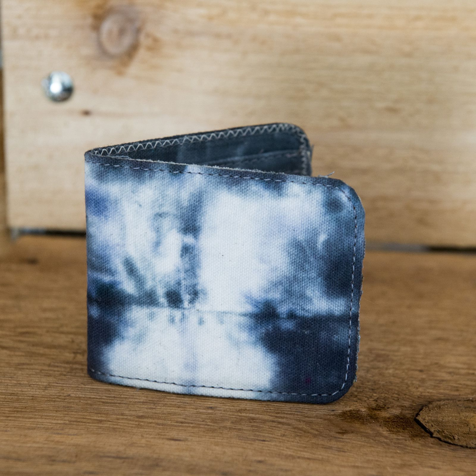 TIE DYED CANVAS BIFOLD WALLET