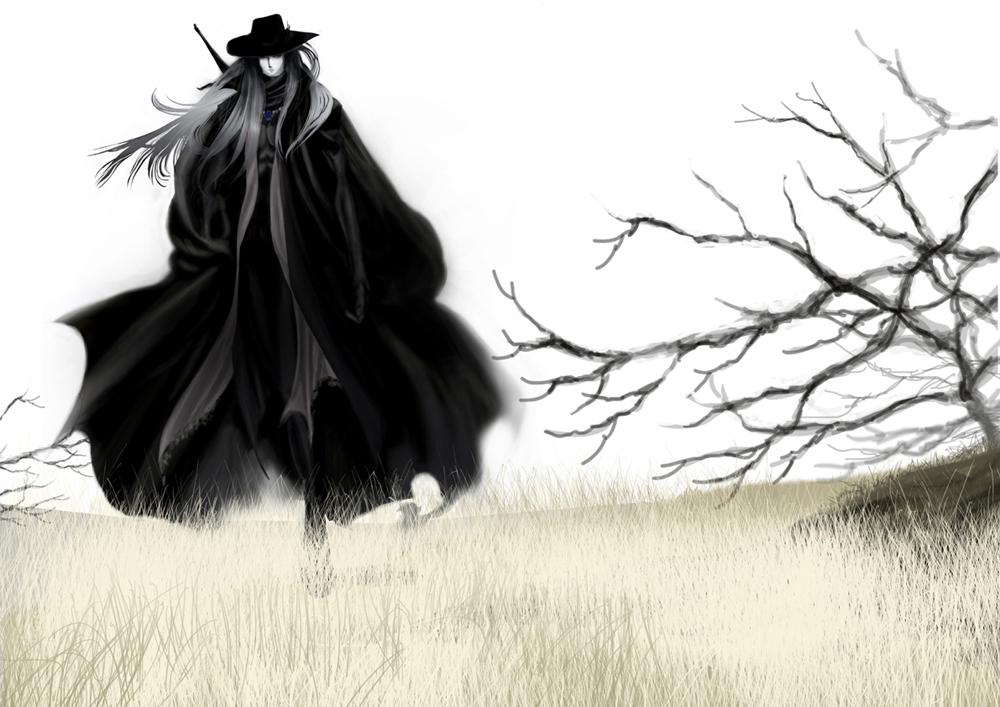 vampirehunterd d的な illustration by megtatsuki pixiv 吸血鬼ハンター イラスト 天野喜孝