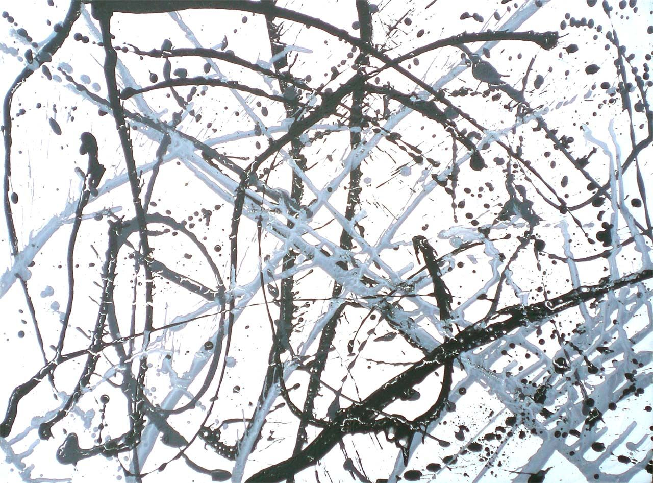 Jackson Pollock Paintings Black And White In black and white | art ...