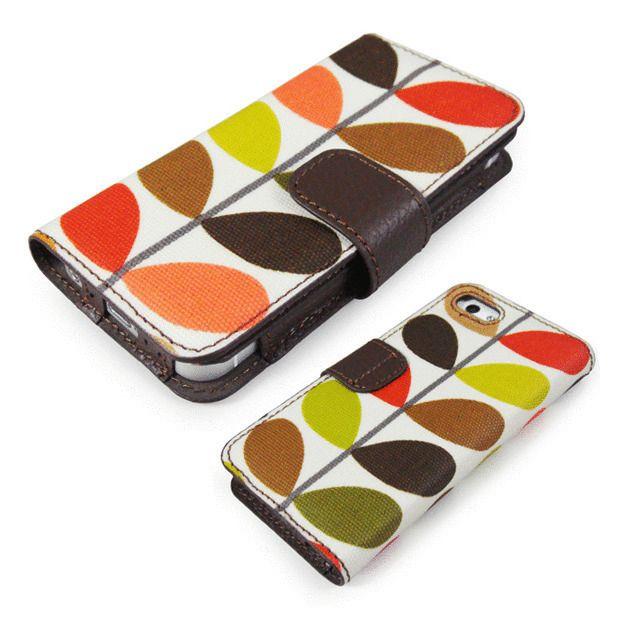 【【iPhone5s/5 ケース】Orla Kielyシリーズ フォリオケース スクエヌフラワー】・コーティング生地と本革製のフォリオケース ・イギリス生まれの…