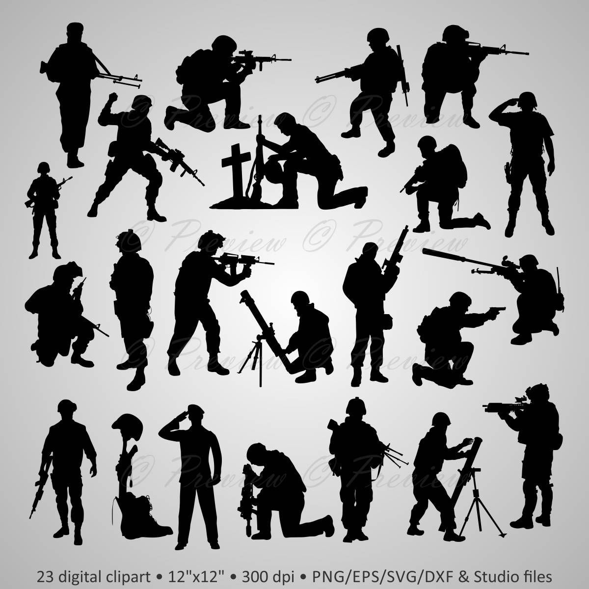 Buy 2 Get 1 Free Digital Clipart Silhouettes Soldier Army Etsy Soldier Silhouette Digital Clip Art Military Tattoos [ 1200 x 1200 Pixel ]