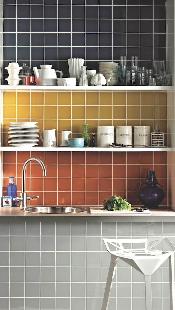 Bring a space to life with bold tile choices! #tiles #colourpop ...