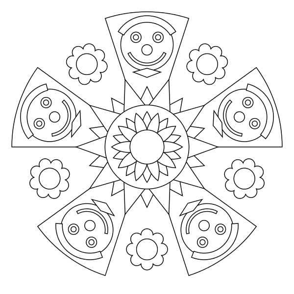 Free Printable Mandala Coloring Pages Art Ideas Pinterest