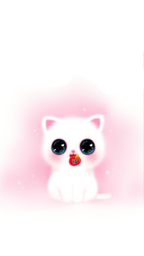 Wallpaper Iphone Girly Cute Pink Melody Cat Iphone Wallpaper