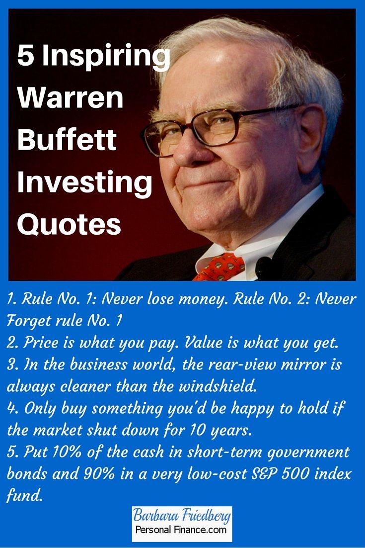 5 Inspiring Warren Buffett Investing Quotes Investment