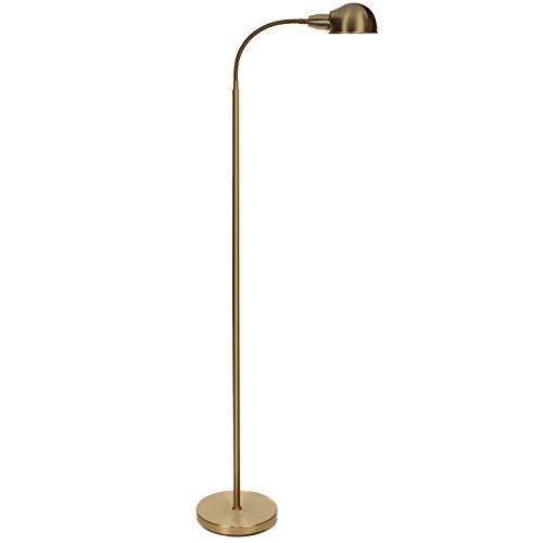 Price 36 99 Brightech Regent Led Reading And Craft Floor Lamp Contemporary Modern Standing Light With Gooseneck For Living Room Sewing
