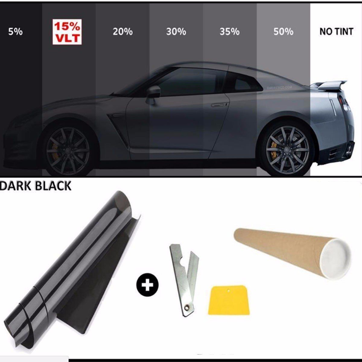 Convenient 50cm X 7m 15 Limo Black Car Auto Van Window Glass Tint