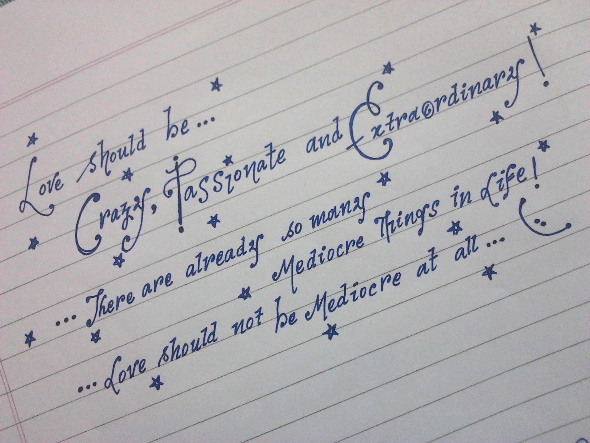 Girly Penmanship Worksheet