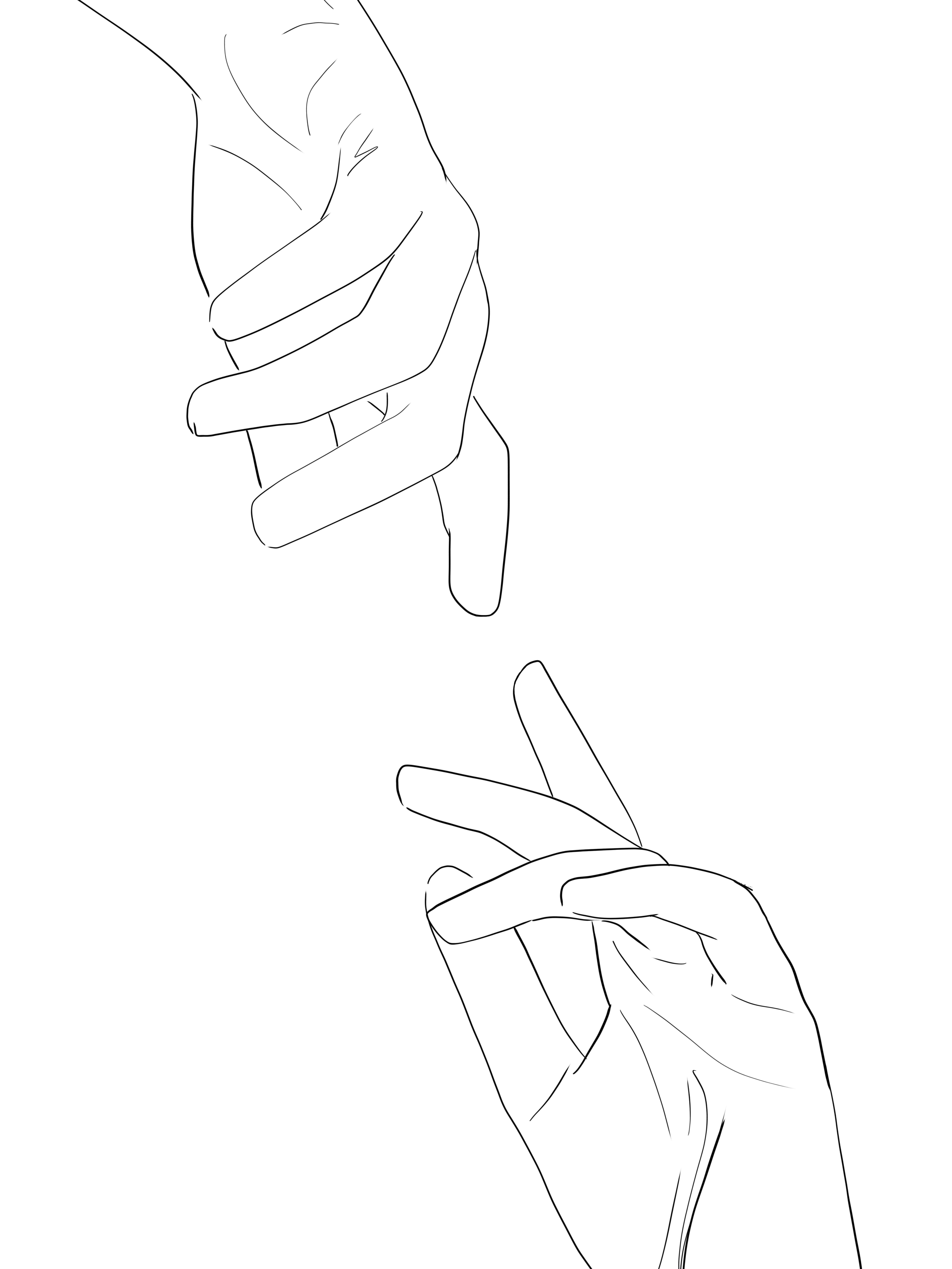 hands line art