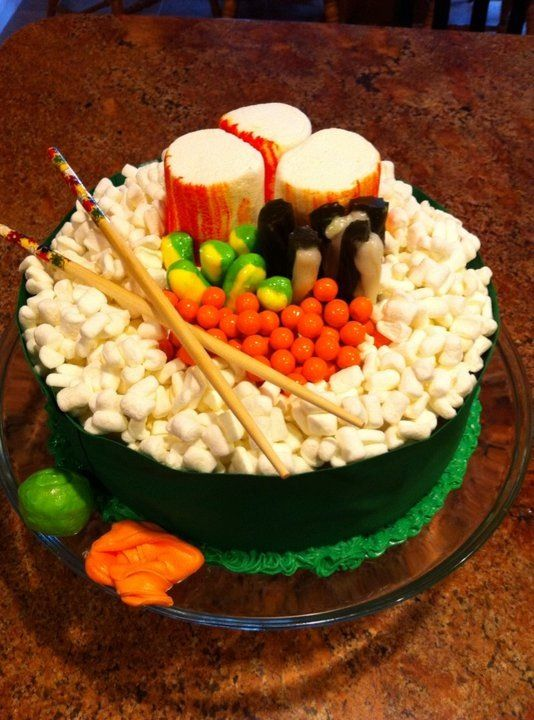 For the Sushi Lover Sushi Birthday Cake 2 layer cake of choice