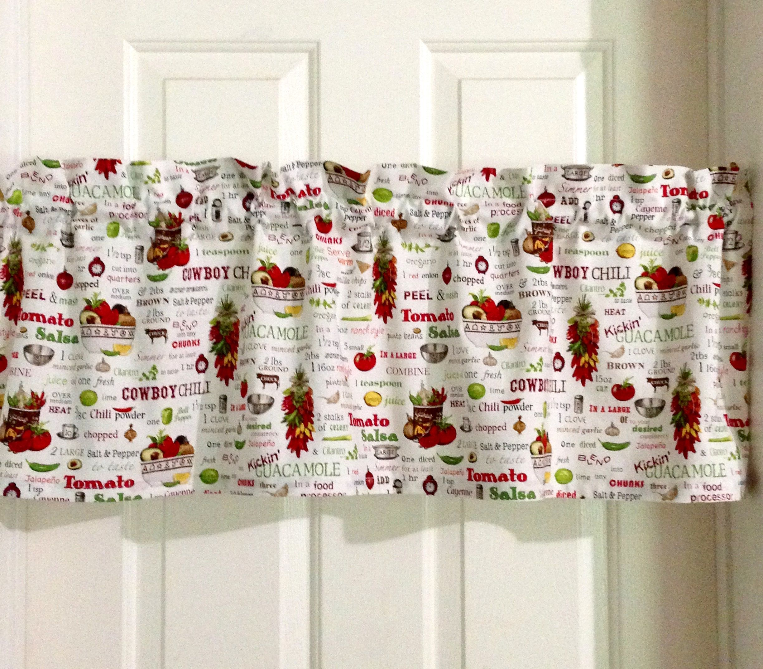 Vintage Chef Kitchen Country Country Kitchen Valances Rustic