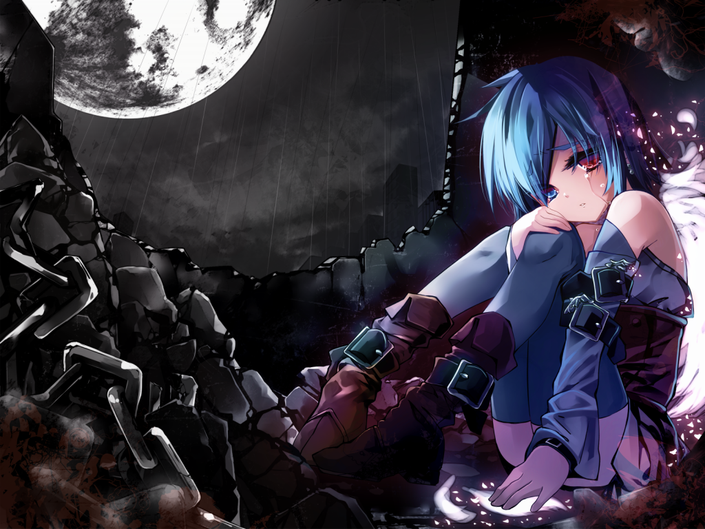 sad anime girl Wallpapers Sad Anime Girl Blue Eye In The