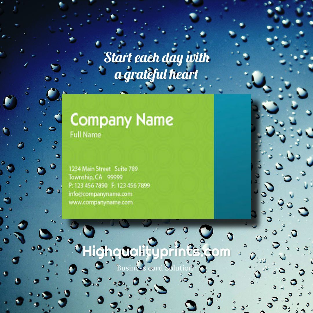 Green & blue simple business card design concept - #businesscard #graphicdesign