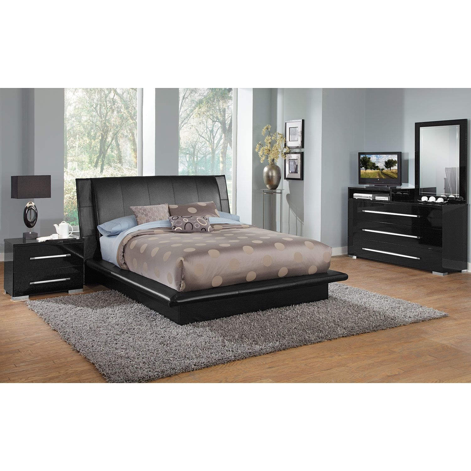 Best American Signature Furniture Dimora Black Bedroom 400 x 300