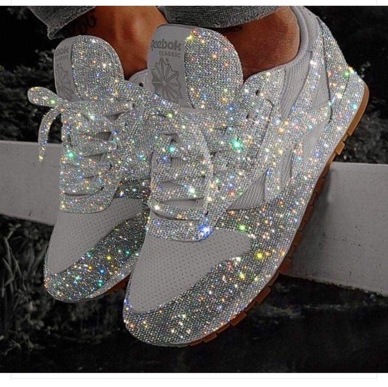 Swarovski Crystal Reebok Shoes Wedding
