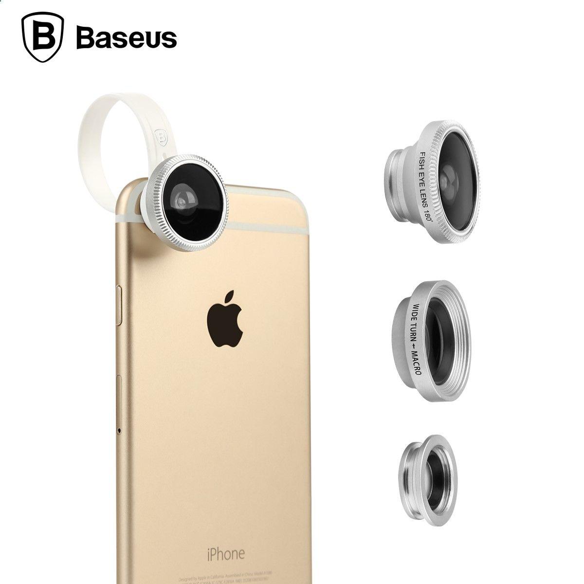 Baseus 3 in 1 mini clipon mobile phone lenses 180 degree