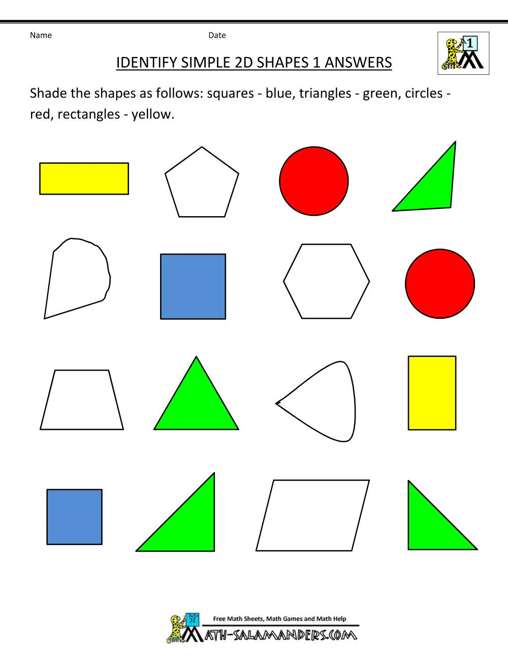 3 2 And 3 Dimensional Shapes Worksheets For First Grade First Grade Geometry In 2020 Geometry Worksheets Shapes Worksheets Free Math Worksheets