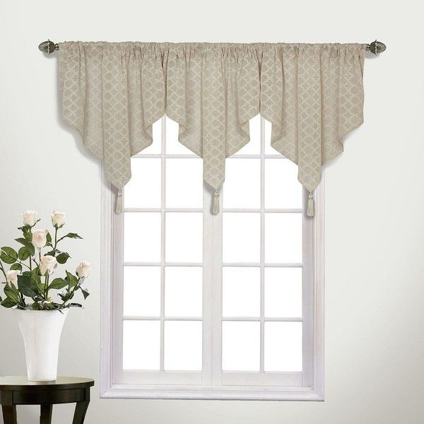 United Curtain Co Belmont Semi Sheer Valance 27 Liked On