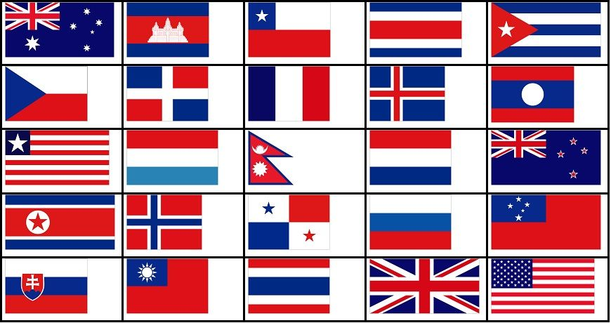 Red White And Blue Flags Quiz By Delgue Red And White Flag Blue Flag Red And Blue Flag