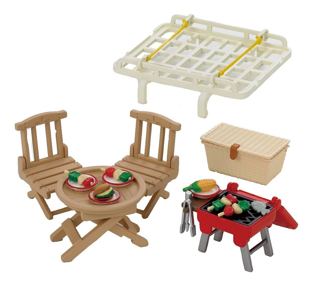 Calico Critters Sylvanian Families FAMILY BARBEQUE BBQ AND CAR ...