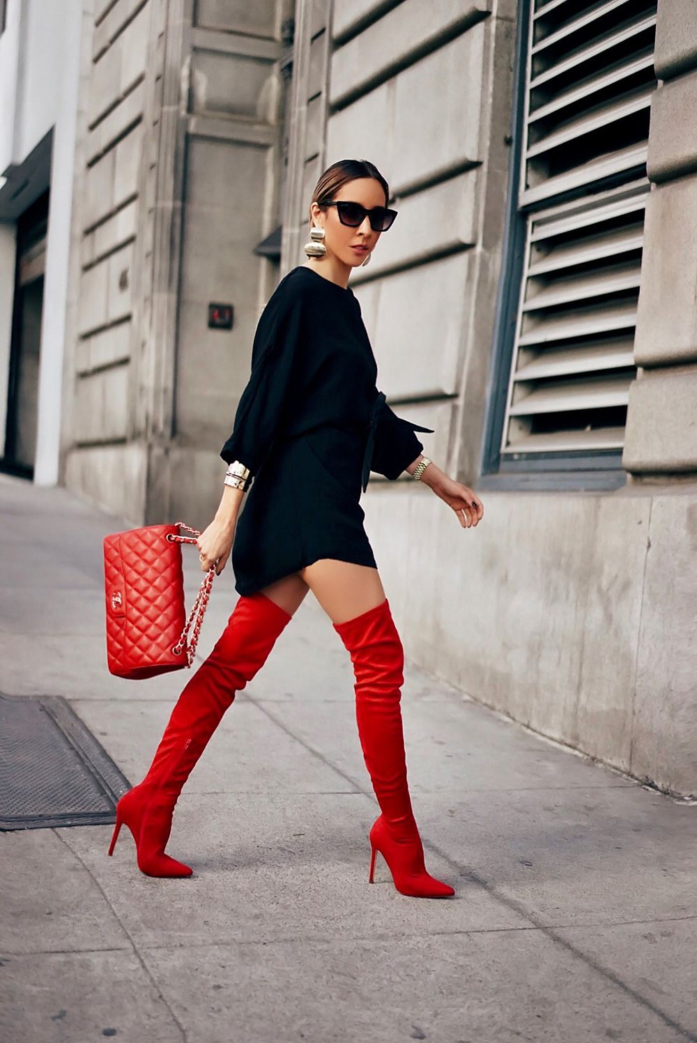 How To Wear Red Thigh High Boots This Fall Hot High Heels