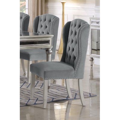 House Of Hampton Boucher Wingback Dining Chair French Country