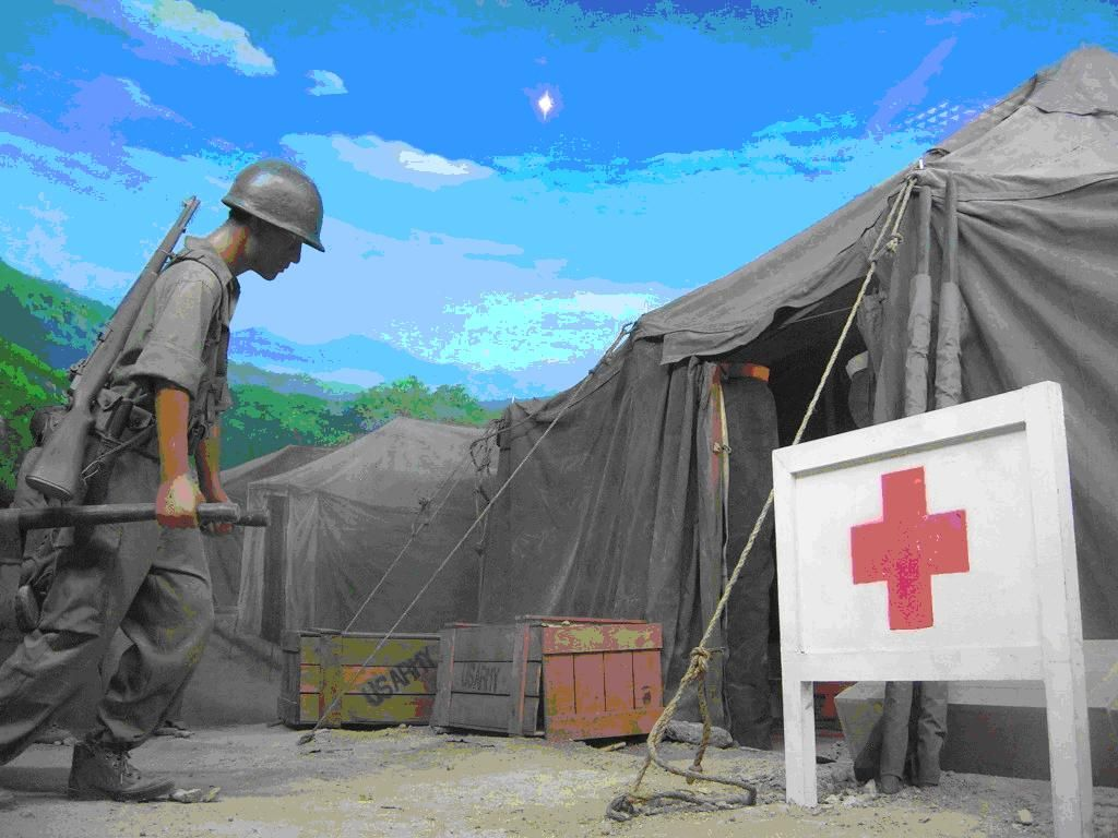 What the field hospital tents looked like us army