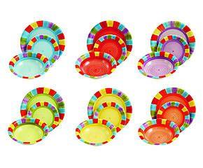Servizio di piatti in gres Mary multicolor - 18 pezzi