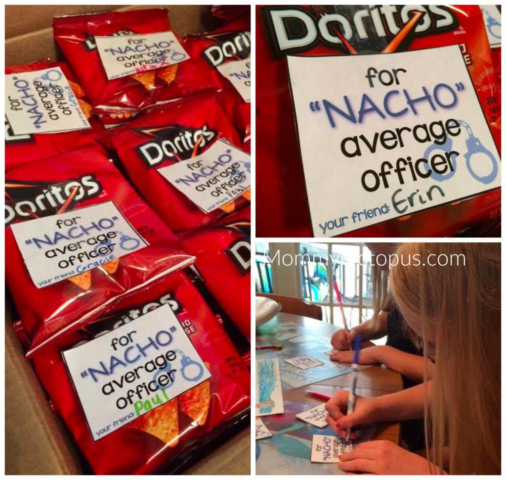 nacho average officer printable police appreciation law