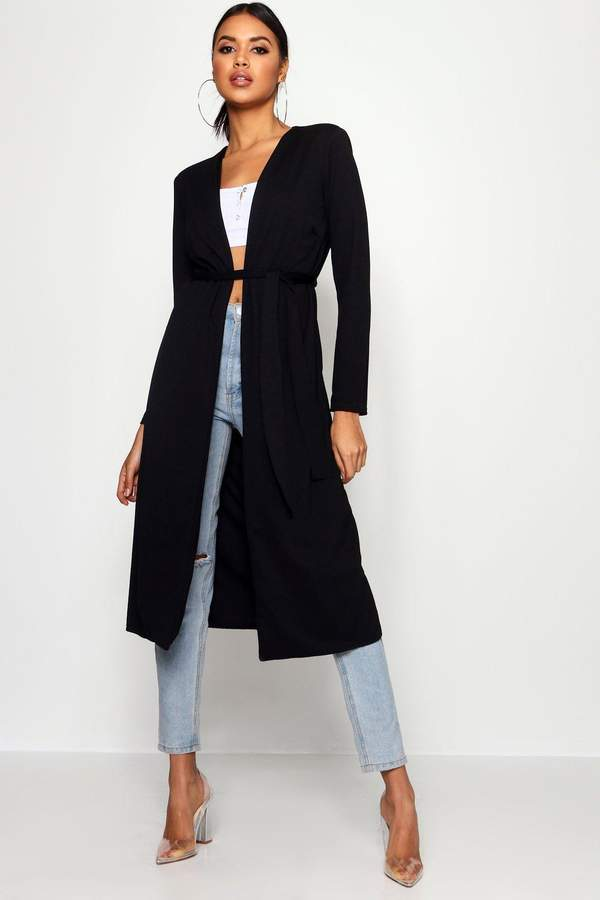 799b6361275 Ruched Waist Maxi Duster Jacket | Products | Duster jacket, Jackets ...