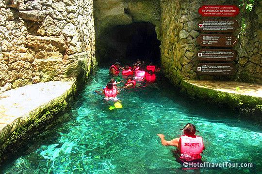 Underground Rivers And Caves In Xcaret Eco Park  Mexico