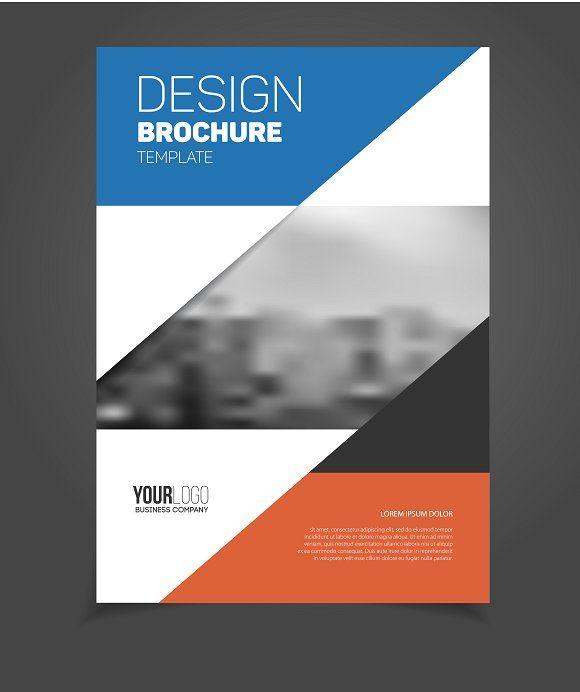 Brochure template by alejik on @creativemarket Folletos - program proposal template