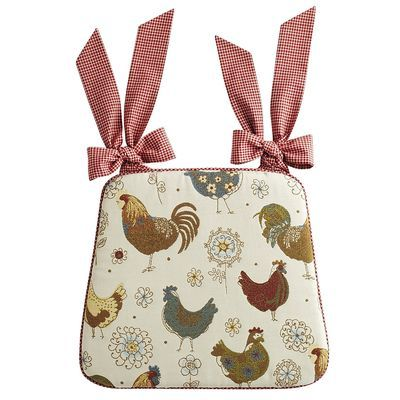 Claudine Rooster Dining Cushion