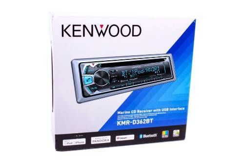 Kenwood KMR-D362BT MARINE MP3 Bluetooth IPHON SIRIUS XM READY AM/FM radio with station presets CD player for standard audio CDs and also CDRs burned with MP3 or WMA files 200 watts peaker power (50 watts x 4 channels) Removable faceplate Front USB port for connecting iPod, MP3 player or smart phones (recharge and control)Compatible with devices enabled with Pandora, I Heart Radio and other apps