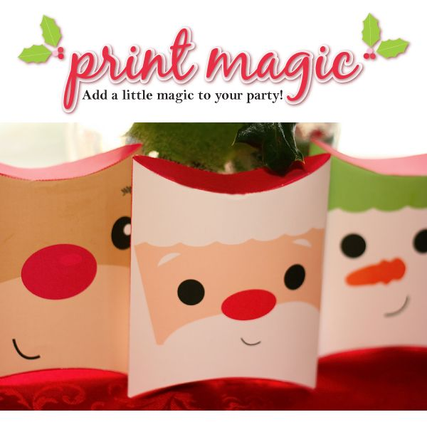 Christmas Packaging Pillow Boxes Template INSTANT DOWNLOAD Xmas Gifts Christmas Printable Boxes Cute Santa Gift Box Christmas Boxes