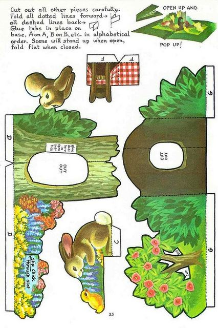Easter Pop Up Planche 2 Pop Up Card Templates Pop Up Pop Up Book