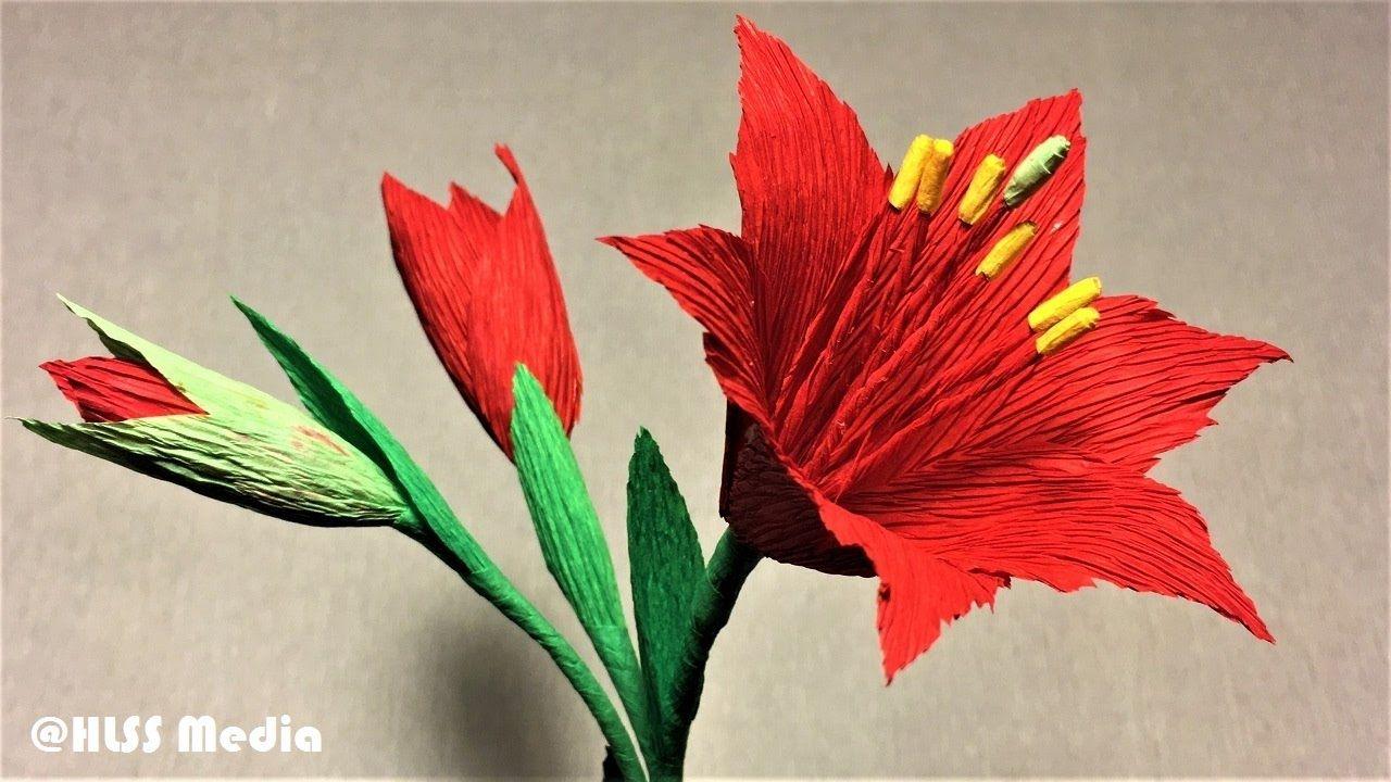 How To Make Amaryllis Paper Flowermaking Beautiful Origami