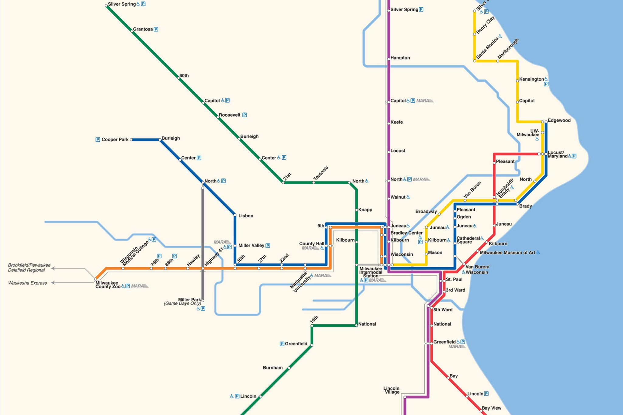 Map marks theoretical Milwaukee subway By Matt Forrest Milwaukees