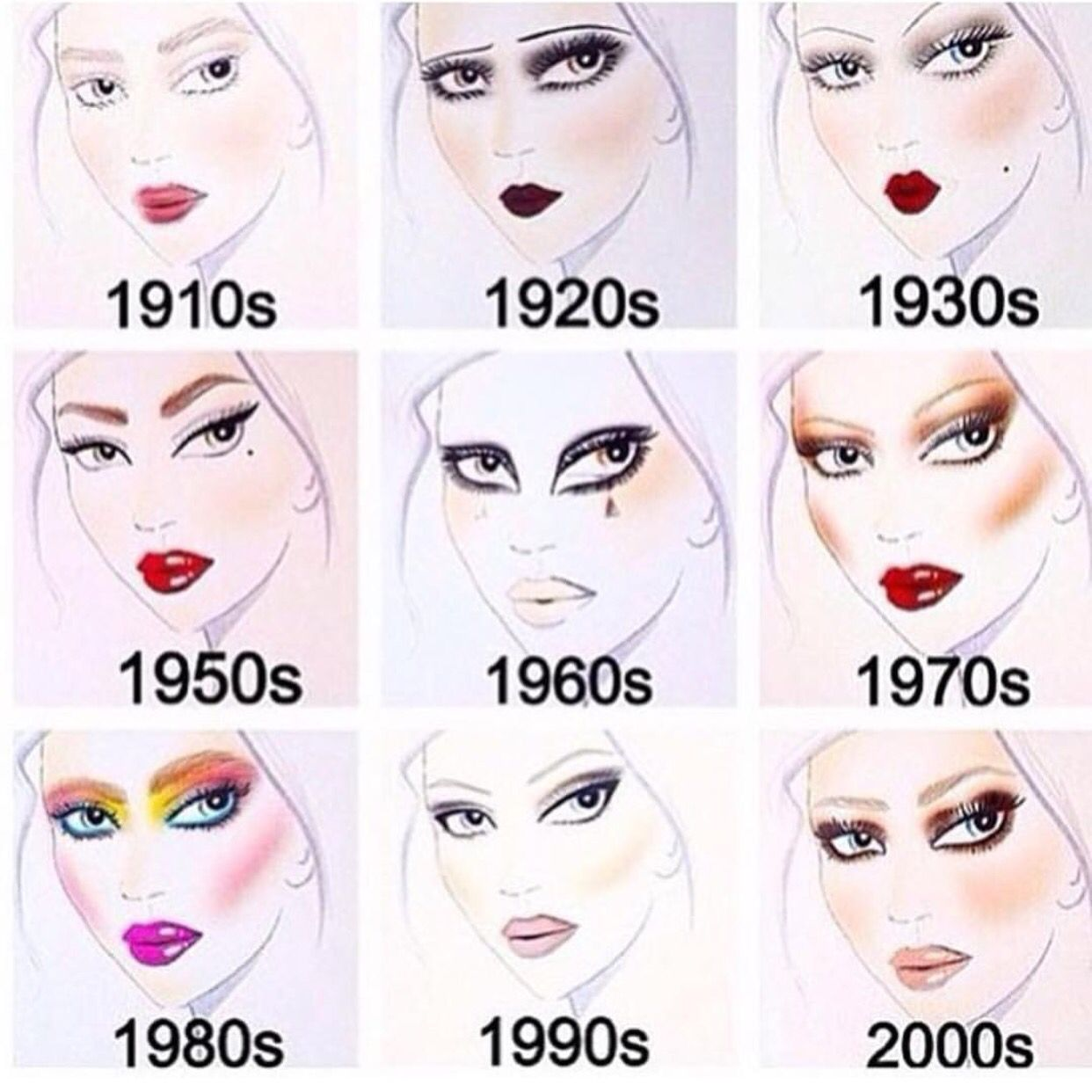 Which Makeup Do You Like Mine Is 20 S And 70 S With