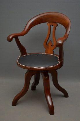 victorian office chair. Victorian Office Chair By C Meeking #antiqueforsale