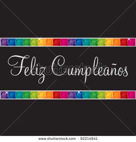 Spanish u0027Happy Birthdayu0027 card in vector format DIAMONDS - birthday cards format