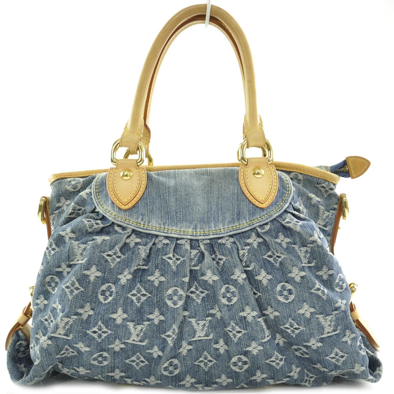 Louis Vuitton Denim Neo Cabby Mm Blue