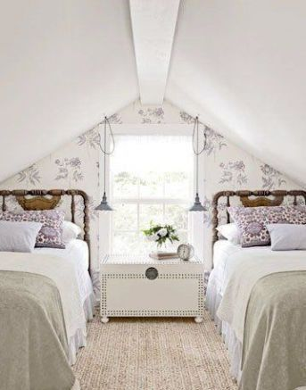 Attic Bedrooms You Ll Want To Wake Up In Cottage And Farmhouse Style Attic Bedroom Small French Style Bedroom Bedroom Design