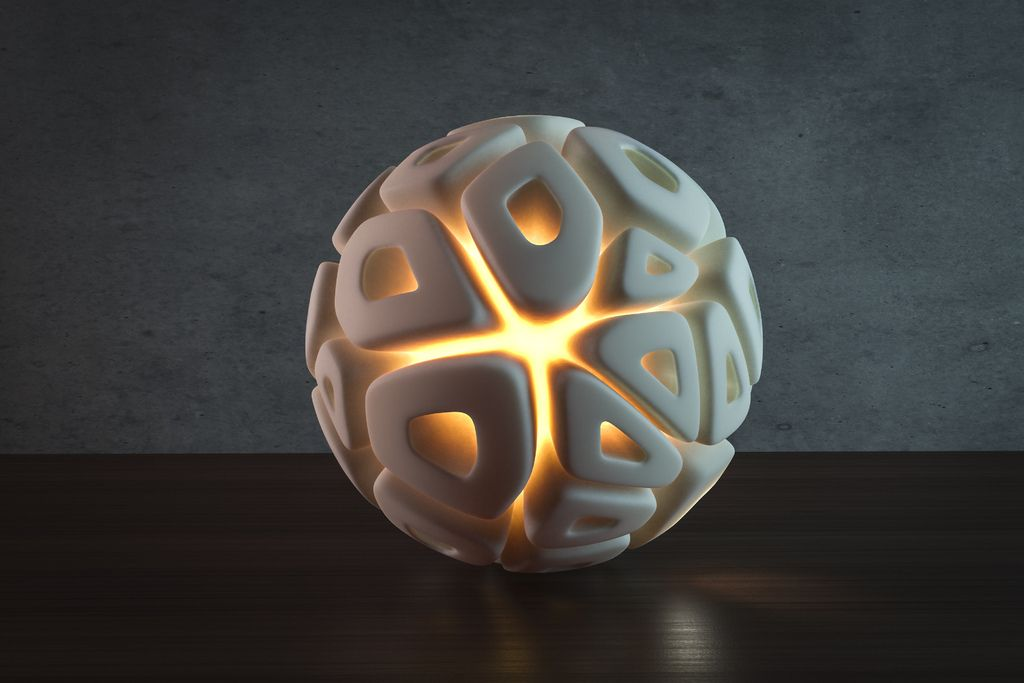 Lampa A Collection By Burqs82 Sphere Lamp Lamp Cube Lamps