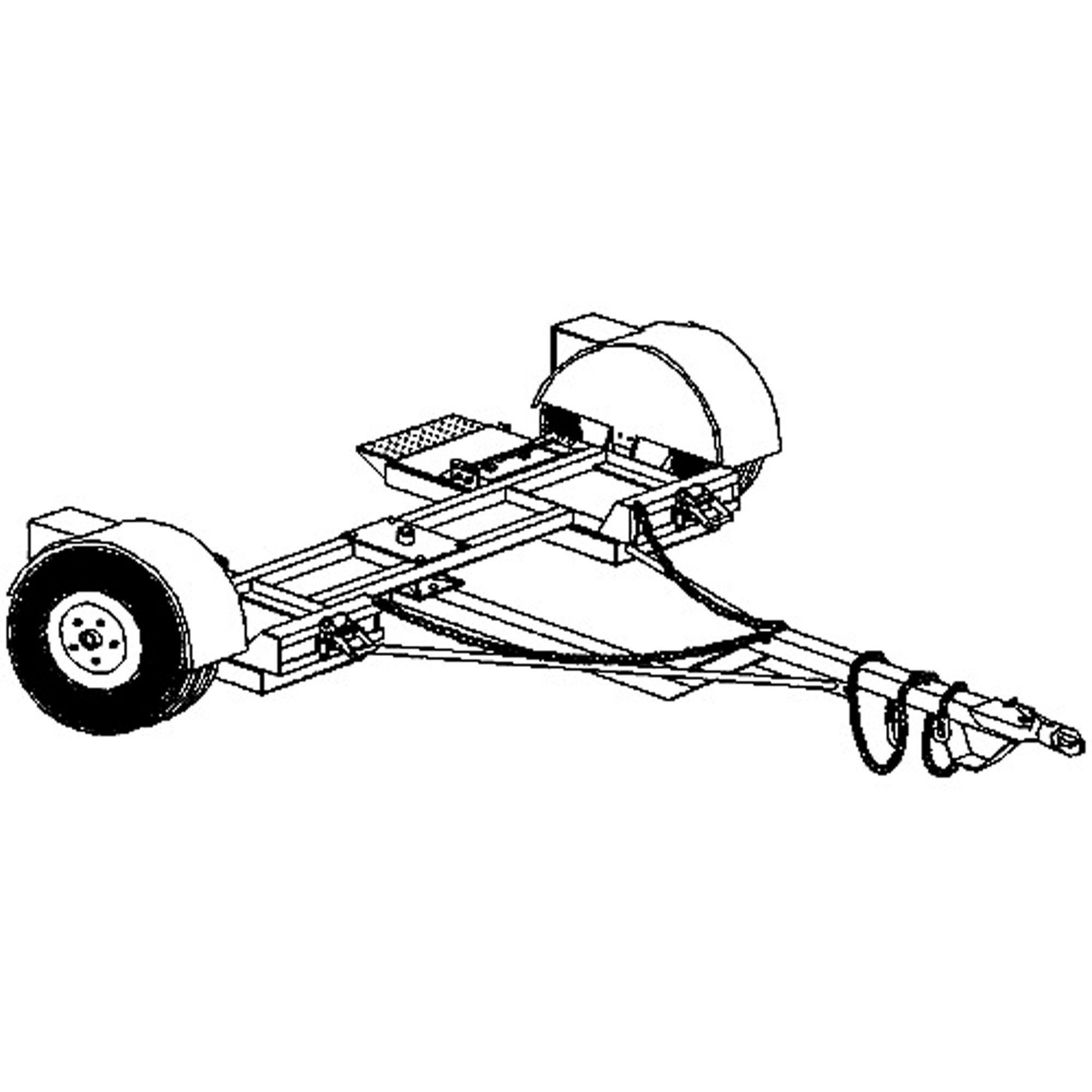 tow dolly parts diagrams