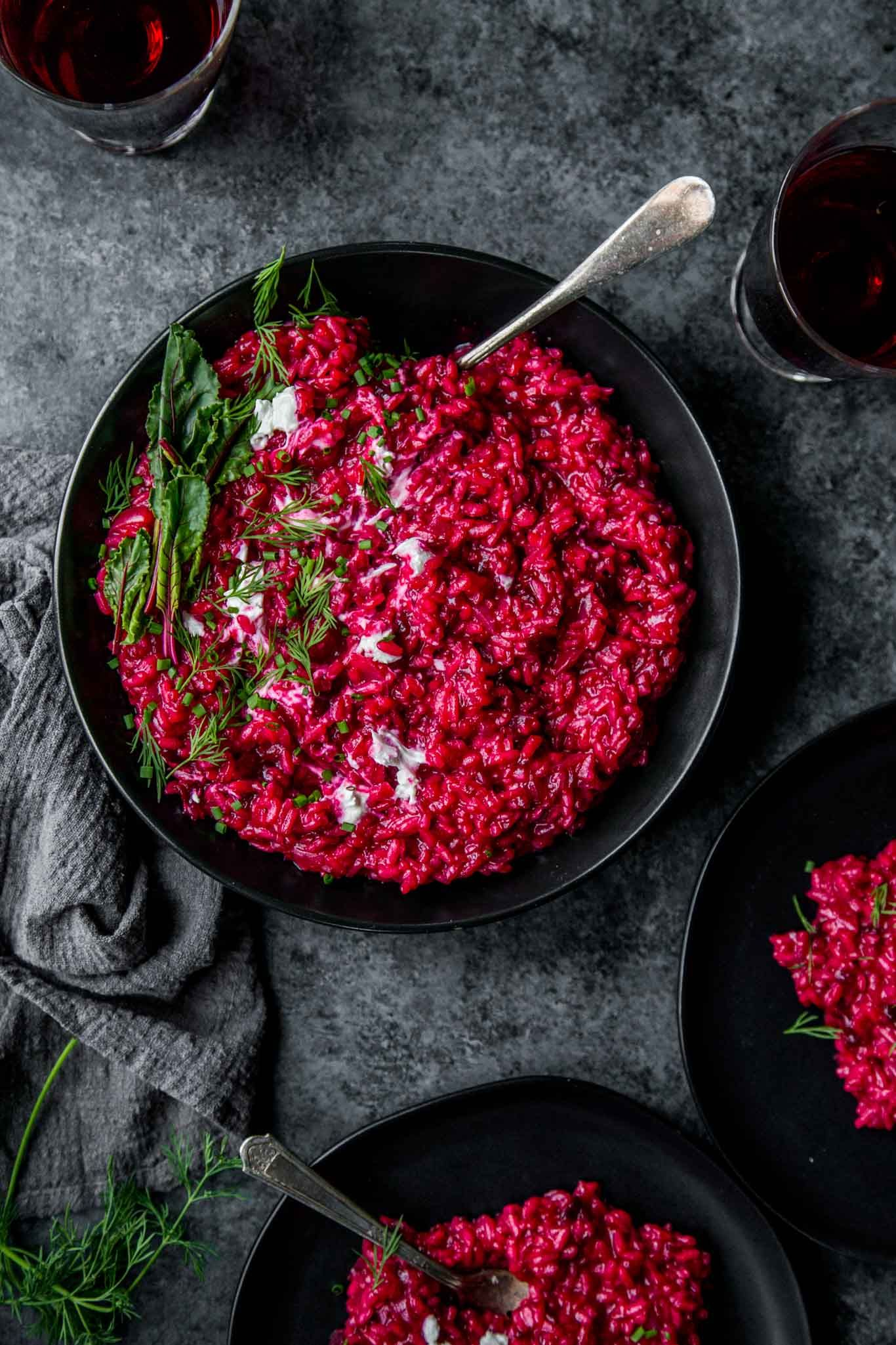 Creamy Beet Risotto with Goat Cheese // Easy Risotto Recipe