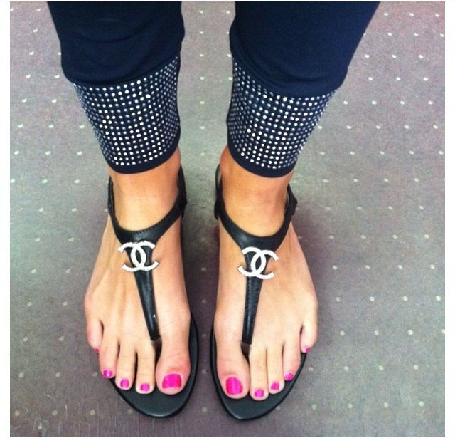 Chanel sandals, Chanel shoes, Shoes