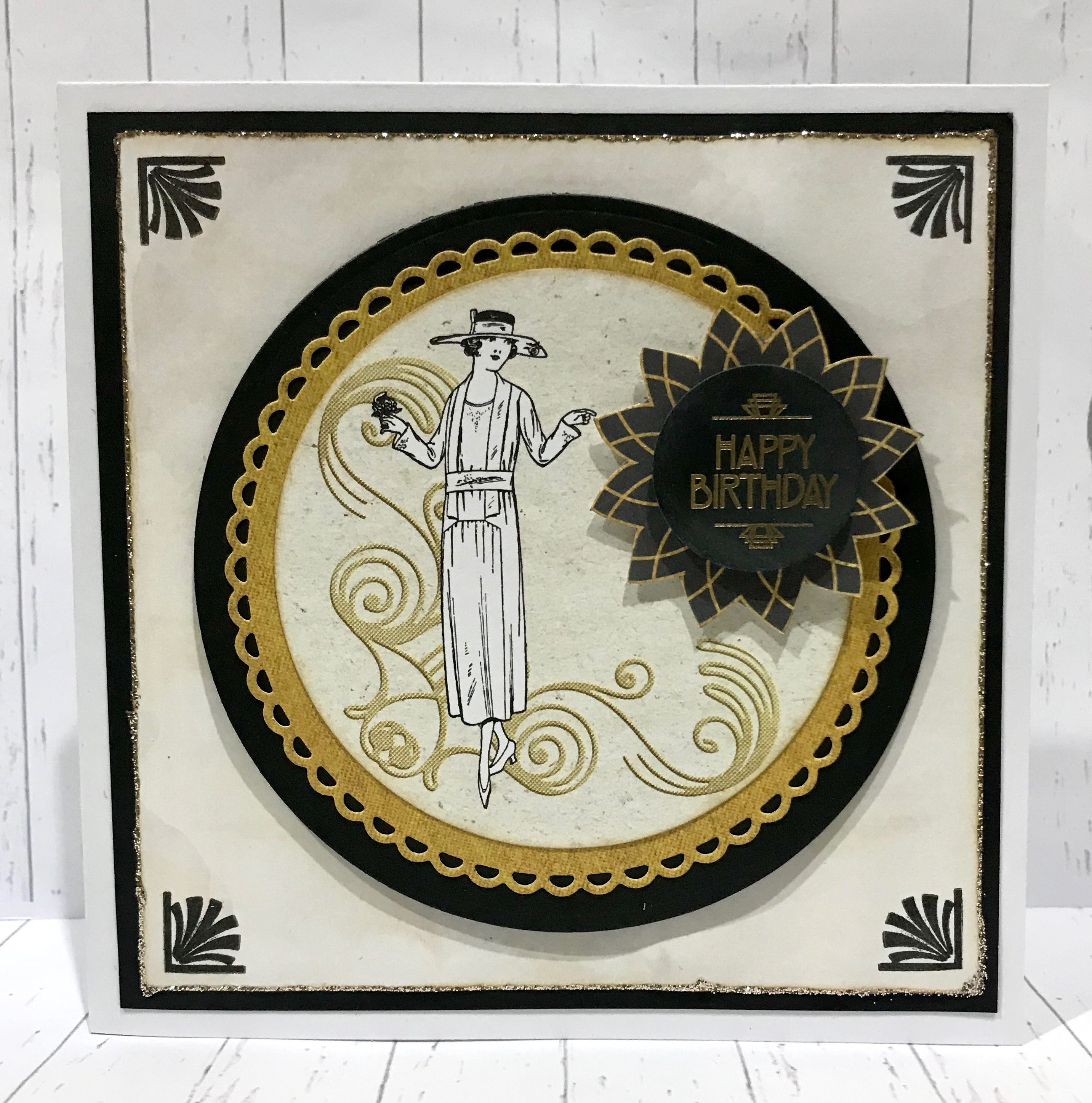created by sue morgan using craftwork cards art deco and. Black Bedroom Furniture Sets. Home Design Ideas