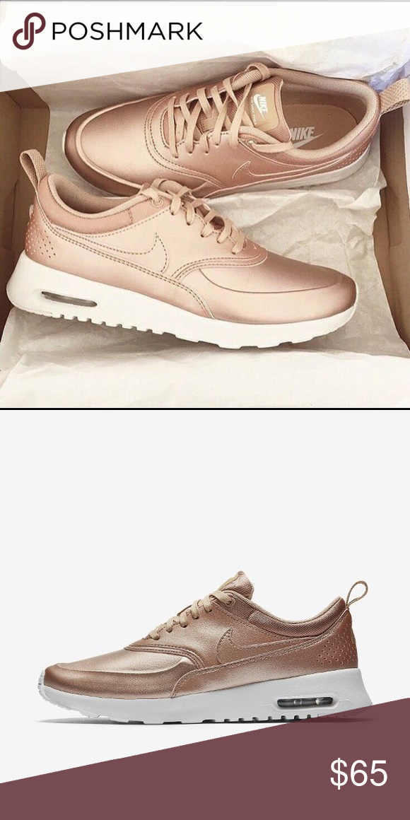 Nike Air Max Thea SPECIAL EDITION Rose gold Nike sneakers Nike Shoes  Sneakers